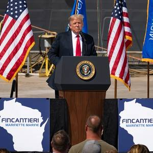 Video: President Trump Visits Fincantieri Marinette Marine