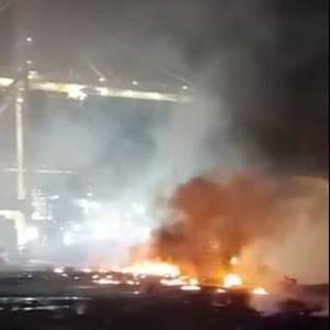 VIDEO: Ship Explosion Rocks Dubai's Jebel Ali Port. Fire Under Control