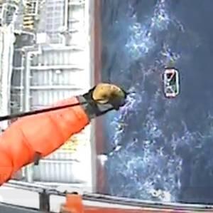 Video: Tanker Crewman Medevaced off South Carolina