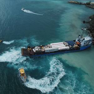 Cargo Vessel Refloated after Grounding off St. Thomas