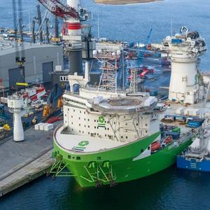 OSV Orion Fueled with LNG in Germany