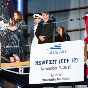 Austal USA Christens Latest Navy Ship