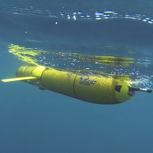 Ocean Glider Equipped with Fishery Echosounder