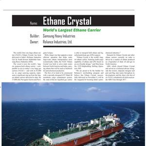 World's Largest Ethane Carrier Loads Its First Cargo