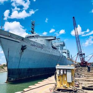 SS Cape Florida Arrives in Brownsville for Recycling