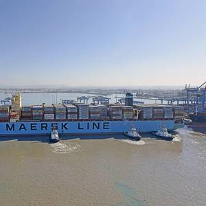Maersk Ship the Largest to Ever Call in Israel