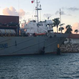 Cargo Ship Runs Aground in Florida