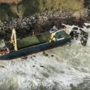 """Ghost Ship"" Washes Up in Ireland"
