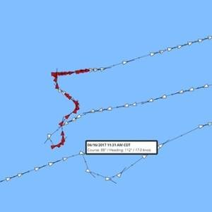 USS Fitzgerald Collision Tracked with AIS Data