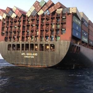 Container Losses in the Rolling Seas