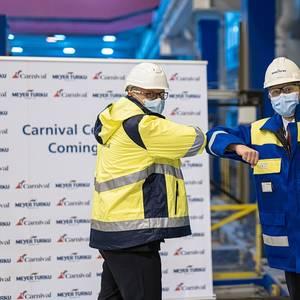 Meyer Turku Cuts Steel for Carnival's Next Mega Cruise Ship