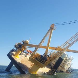 Liftboat Taking on Water in US Gulf