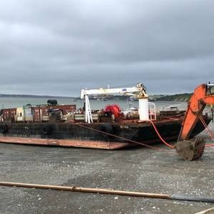 Fuel Barge Stuck in the Mud in Alaska