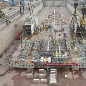 Keel Laid for Finnlines' Second Hybrid RoRo Ship
