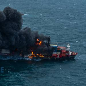 VIDEO: Containership Catches Fire Off Sri Lanka
