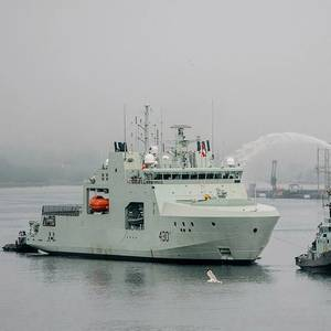 Canada's First Arctic and Offshore Patrol Ship Delivered