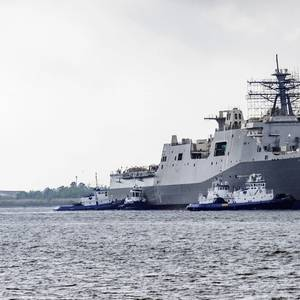 Future USS Fort Lauderdale Launched at Ingalls
