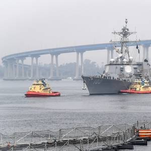 Coronavirus-hit US Navy Destroyer Arrives in San Diego
