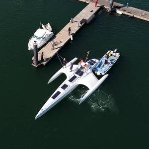 AI- and Solar-powered Autonomous Ship Mayflower Launched