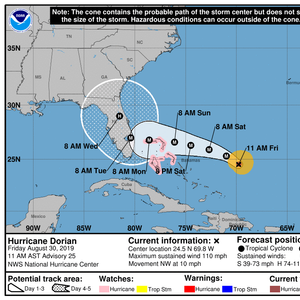 Florida Braces for a Hit as Dorian Strengthens