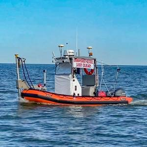 Unmanned Vessel Launched to Survey Western Galveston Bay