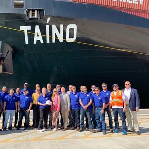 Crowley Christens LNG-Powered M/V Taíno