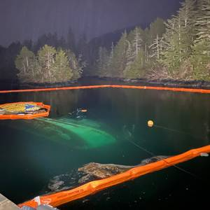Sunken Vessel Leaks Oil Near Sitka, Alaska