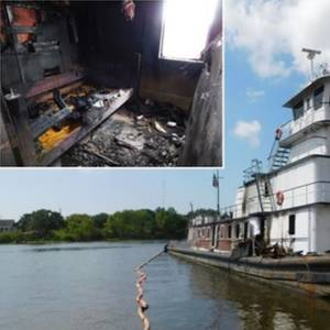 'Catastrophic' Engine Failure Caused Susan Lynn Towboat Fire -NTSB