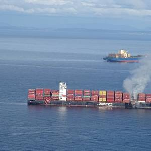 Fire Breaks Out on Containership off British Columbia