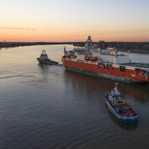 Australia's New Icebreaker is Being Towed to the Netherlands
