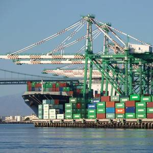 Ships Wait to Unload at Port of Los Angeles as Imports Boom