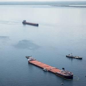 Freighter Runs Aground in Lake Superior