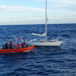 Coast Guard Assists Sailing Vessel 50 Miles off NC