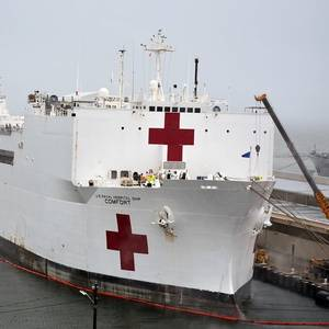Dredgers Make Way for USNS Comfort in New York