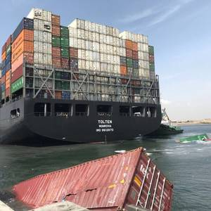 Containerships Collide at Port of Karachi