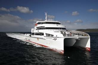 World's Largest Fast Crew Boat Christened at Incat