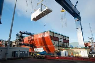 Gas Turbine Alternator Installed into Aircraft Carrier