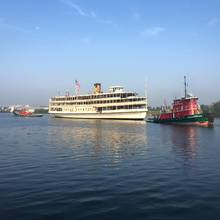 Historic Steamship Towed to Buffalo for Restoration
