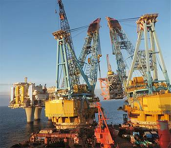 File The compressor module was lifted into place by Saipem 7000, one of the world