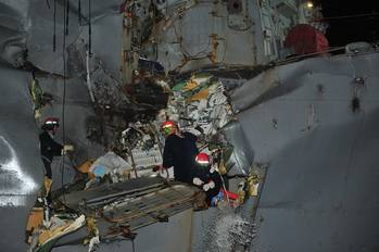 File Damage to USS Porter: Photo credit USN