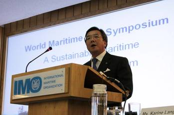 "File ""Shipping has always provided the only truly cost-effective method of bulk transport over any great distance, and the development of shipping and the establishment of a global system of trade are intrinsically and inherently linked."" (IMO Secretary-General, Koji Sekimizu)"