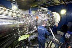 File The Rolls-Royce MT30 Marine gas turbine on the test bed (Photo Credit: Rolls-Royce).