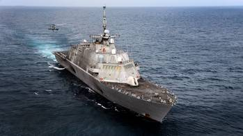 File USS Freedom: Photo credit USN