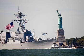 File USS Michael Murphy Transits NY Harbor: Photo credit USCG