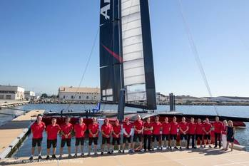 File Launch of AC72: Photo courtesy of Sander van der Borch/Artemis Racing