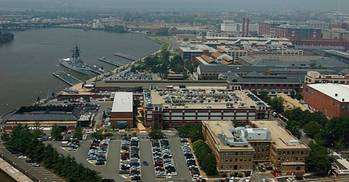 File An undated file photo of an aerial view of the Washington Navy Yard. (U.S. Navy photo/Released)