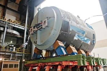 File 410-ton Module at SMOF: Photo courtesy of HII