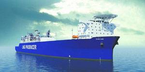 File The FLEX LNG ship will be powered by four Wärtsilä 50DF engines, manufactured by Wärtsilä-Hyundai Engine Company.