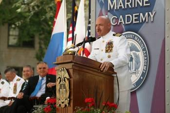 File Captain Mark Kelly Addresses USMMA: Photo credit USMMA