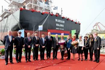File Bulk Carrier Re-naming Ceremonty: Photo credit Chengxi Shipyard Co
